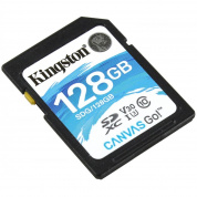 Карта памяти Kingston SDXC 128Gb Class10 SDG/128GB Canvas Go