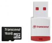 Карта памяти Transcend Micro SDHC Card 16GB Class10 w/Reader