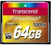 Карта памяти CompactFlash Card 64GB 1000X Transcend