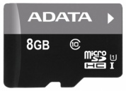 Карта памяти Transcend Micro SDHC Card 8GB Class 10 U1 adapter