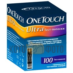 Тест-полоски One Touch Ultra №100 4х25