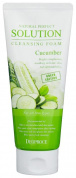 Пенка для умывания огурец Deoproce Natural Perfect Solution Cleansing Foam Green Edition Cucumber 170гр